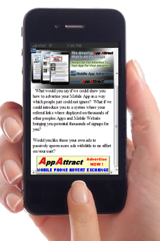 handheld appattract banner advert